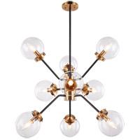 Matteo Lighting C72309AGCL Maru 9 Light 28 inch Aged Gold Brass Chandelier Ceiling Light