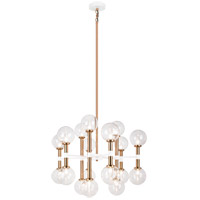 Matteo Lighting C75318AGCL Stellar 18 Light 26 inch Aged Gold Brass Chandelier Ceiling Light