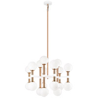 Matteo Lighting C75318AGOP Stellar 18 Light 26 inch Aged Gold Brass Chandelier Ceiling Light