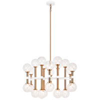 Matteo Lighting C75324AGCL Stellar 24 Light 30 inch Aged Gold Brass Chandelier Ceiling Light