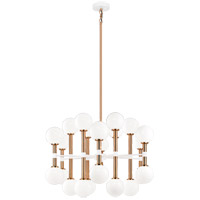 Matteo Lighting C75324AGOP Stellar 24 Light 30 inch Aged Gold Brass Chandelier Ceiling Light