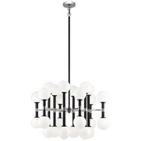Matteo Lighting C75324BKOP Stellar 24 Light 30 inch Black Chandelier Ceiling Light