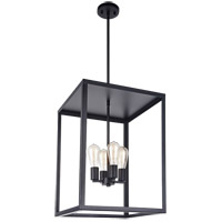 Matteo Lighting C76004BK Flare 4 Light 16 inch Black Chandelier Ceiling Light