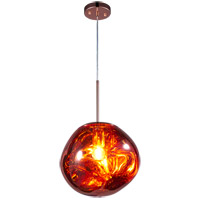 Matteo Lighting C76801CP Galactic 1 Light Copper Pendant Ceiling Light