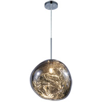 Matteo Lighting C76803SM Galactic 1 Light Smoke Pendant Ceiling Light