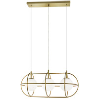 Matteo Lighting C76903GL Eclipse 3 Light 12 inch Gold Pendant Ceiling Light