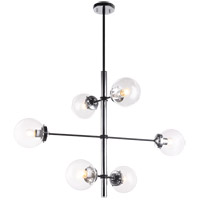 Matteo Lighting C78106CHCL Enchant 6 Light 20 inch Chrome Pendant Ceiling Light