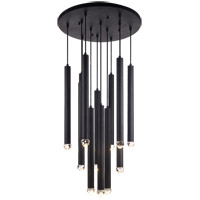 Matteo Lighting C78312MB Reign LED 24 inch Matte Black Pendant Ceiling Light