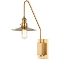 Matteo Lighting S01511AGAG Bingrahm 1 Light 9 inch Aged Gold Brass Wall Sconce Wall Light