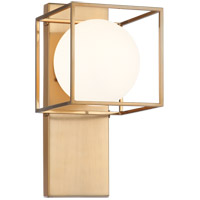 Matteo Lighting S03801AG Squircle 1 Light 7 inch Aged Gold Brass Wall Sconce Wall Light