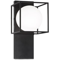 Matteo Lighting S03801BK Squircle 1 Light 7 inch Black Wall Sconce Wall Light