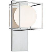 Matteo Lighting S03801CH Squircle 1 Light 7 inch Chrome Wall Sconce Wall Light