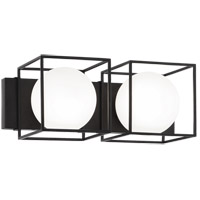 Matteo Lighting S03802BK Squircle 2 Light 18 inch Black Wall Sconce Wall Light