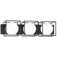 Matteo Lighting S03803BK Squircle 3 Light 26 inch Black Wall Sconce Wall Light