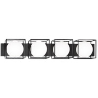 Matteo Lighting S03804BK Squircle 4 Light 35 inch Black Wall Sconce Wall Light