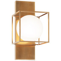 Matteo Lighting S03811AG Squircle 1 Light 7 inch Aged Gold Brass Wall Sconce Wall Light