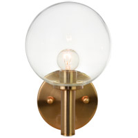 Matteo Lighting S06001AGCL Cosmo 1 Light 6 inch Aged Gold Brass Wall Sconce Wall Light