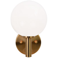 Matteo Lighting S06001AGOP Cosmo 1 Light 6 inch Aged Gold Brass Wall Sconce Wall Light