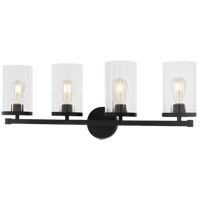 Matteo Lighting S06104BK Liberty 4 Light 32 inch Black Wall Sconce Wall Light