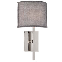 Matteo Lighting W42501GY Nolan 1 Light 9 inch Chrome Wall Sconce Wall Light