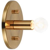 Matteo Lighting W54901AG Kasa 1 Light 5 inch Aged Gold Brass Wall Sconce Wall Light