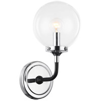 Matteo Lighting W58201CHCL Particles 1 Light 6 inch Black and Chrome Wall Sconce Wall Light