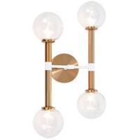 Aged Gold Brass Stellar Wall Sconces