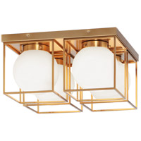 Matteo Lighting X03804AG Squircle 4 Light 15 inch Aged Gold Brass Ceiling Mount Ceiling Light