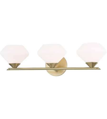 Mitzi H136303-AGB Valerie 3 Light 22 inch Aged Brass Bath Vanity Wall Light photo thumbnail