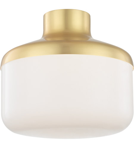 Mitzi H144501L-AGB Livvy 1 Light 12 inch Aged Brass Flush Mount Ceiling Light photo