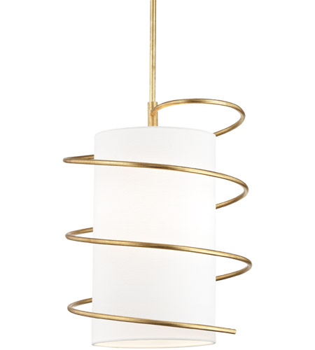 Mitzi H237701l Gl Carly 1 Light 15 Inch Gold Leaf Pendant Ceiling Photo