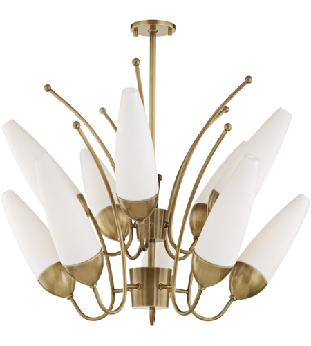 Mitzi H262810-AGB Amee 10 Light 33 inch Aged Brass Chandelier Ceiling Light photo thumbnail