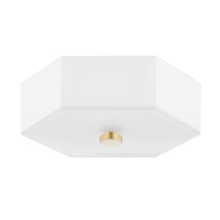 Mitzi H462502-AGB/PN Lizzie LED 11 inch Aged Brass/Polished Nickel Flush Mount Ceiling Light