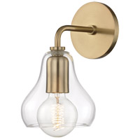 Mitzi H104101S-AGB Sadie 1 Light 6 inch Aged Brass Wall Sconce Wall Light