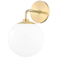 Stella 1 Light 7 inch Aged Brass Wall Sconce Wall Light