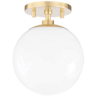 Mitzi H105601-AGB Stella 1 Light 7 inch Aged Brass Semi Flush Ceiling Light