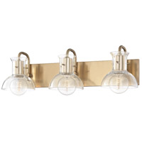 Riley 3 Light 24 inch Aged Brass Bath And Vanity Wall Light