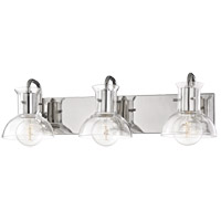 Riley 3 Light 24 inch Polished Nickel Bath And Vanity Wall Light