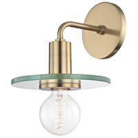 Mitzi H113101-AGB Peyton 1 Light 8 inch Aged Brass Wall Sconce Wall Light