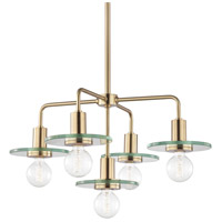 Peyton 5 Light 26 inch Aged Brass Chandelier Ceiling Light