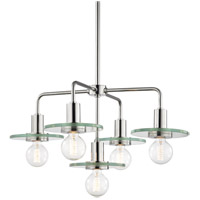 Mitzi H113805-PN Peyton 5 Light 26 inch Polished Nickel Chandelier Ceiling Light