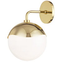 Ella 1 Light Polished Brass Wall Sconce Wall Light