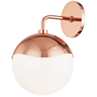 Mitzi H125101-POC Ella 1 Light Polished Copper Wall Sconce Wall Light
