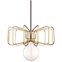 Daisy 1 Light 15 inch Polished Brass Pendant Ceiling Light