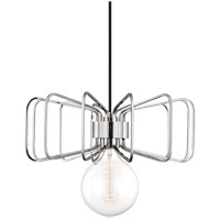 Daisy 1 Light 15 inch Polished Nickel Pendant Ceiling Light
