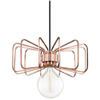 Daisy 1 Light 15 inch Polished Copper Pendant Ceiling Light