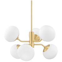 Estee 6 Light 28 inch Aged Brass Chandelier Ceiling Light