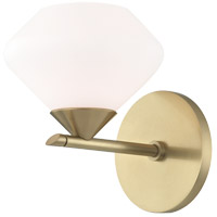 Mitzi H136301-AGB Valerie 1 Light 6 inch Aged Brass Bath Vanity Wall Light