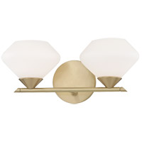Valerie 2 Light 14 inch Aged Brass Bath Vanity Wall Light