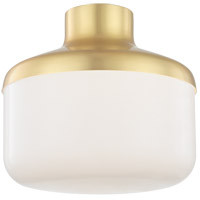 Mitzi by Hudson Valley Lighting H144501L-AGB Livvy 1 Light 12 inch Aged Brass Flush Mount Ceiling Light